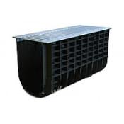 Лоток водоотводный пластиковый Profi Plastik DN300 H300 Park A15 в комплекте с решеткой