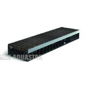 Лоток водоотводный пластиковый Profi Plastik DN200 H117 Е600 в комплекте с решёткой