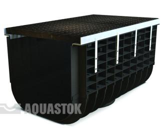 Лоток водоотводный пластиковый Profi Plastik DN500 H315 C250 в комплекте с решеткой