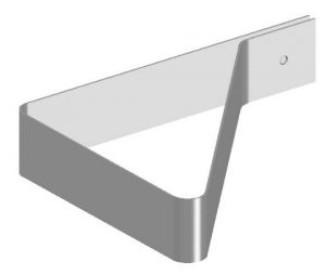 Кронштейн для крепления в желобе ТС.02-50 Ц