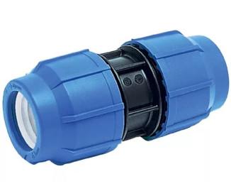 Компрессионная муфта соединительная Ø20x20 мм для ПЭ труб ПНД