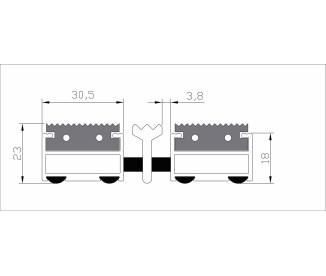 Придверные решетки Сити резина + скребок