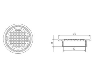 Крышка для колодца PipeLife ПП d400