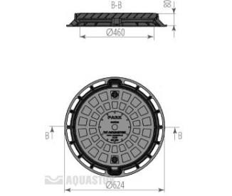 Люк для колодца Aquastok ПП d624/460 (чёрный)
