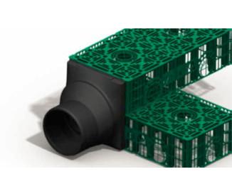 Адаптер для соединения с блоком Stormbox трубы OD315