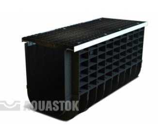 Лоток водоотводный пластиковый Profi Plastik DN300 H415 C250 в комплекте с решеткой