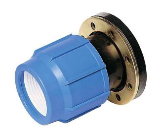 Фланцевое соединение компрессионное Ø63 мм x 2″ для ПЭ труб ПНД