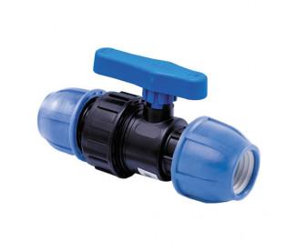 Кран шаровый компрессионный Ø63 мм x 2″ для ПЭ труб ПНД