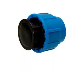 Заглушка компрессионная Ø90 мм для ПЭ труб ПНД