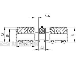 Половик Cleaner 22 - резина+узкая щетка (размер под заказ)