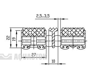 Половик Cleaner 22 - резина+скребок 750х500