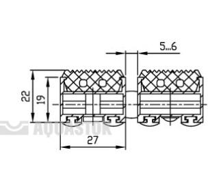 Половик Cleaner 22 - резина (размер под заказ)