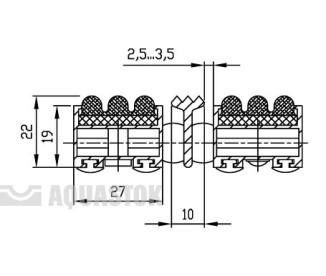 Половик Cleaner 22 - ворс+скребок 750х500