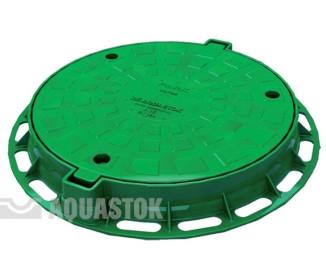 Люк для колодца Aquastok ПП d624/460 (зелёный)