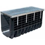 Лоток водоотводный пластиковый Profi Plastik DN500 H365 A15 в комплекте с решеткой