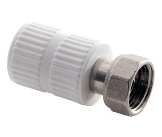Муфта полипропиленовая с накидной гайкой SLT Aqua Ø20 мм x ½″