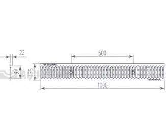Решетка водоприемная штампованная нержавеющая Norma DN100 A15