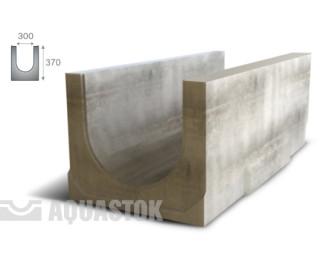 Лоток водоотводный бетонный ЛВБ Norma 300 №16 (уклон 0,5°)