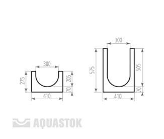 Лоток водоотводный бетонный ЛВБ Norma 300 №10/0 тип 1